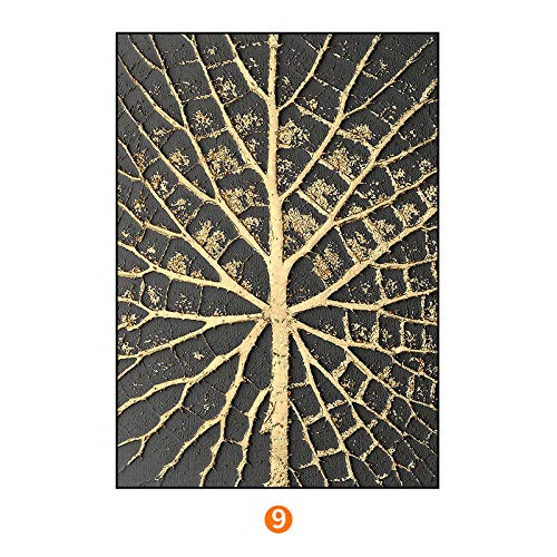 SED Abstract Gold foil Series Modern Decorative Painting, Nordic Office Living Room Painting, Bedroom Triptych, to map Custom,A,6080cm