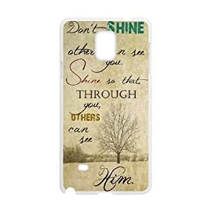 Positive Inspirational Quotes Samsung Galaxy Note 4 Case White Yearinspace957144