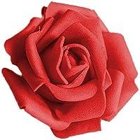 Hemore 3,5 cm Rosa Cabeza roja 50 Pack El Regalo Ideal para los Padres,niños,Amantes,Mujeres