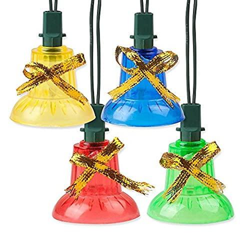 Holiday Essence Indoor Synchronized Musical Christmas Bells Light Set - 30 Multi Color Bell Lights - Plays 25 Merry Songs, with multiple Chasing - Jingle Bell Lights