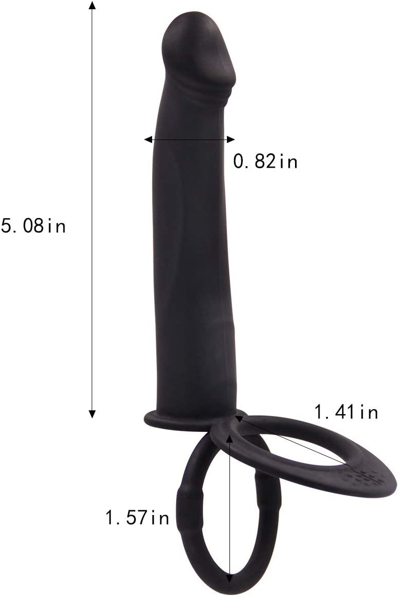 AIWOT-ZDQ Multifunction Electric ām?l Plúg ?-ext-oy Ergonomic Design Pênňís Ring for Men Próstrǎte Relax Mâssager Tools Couple's Pleasure Cook Ring Vî-Brátõr Soft Process (Color : B