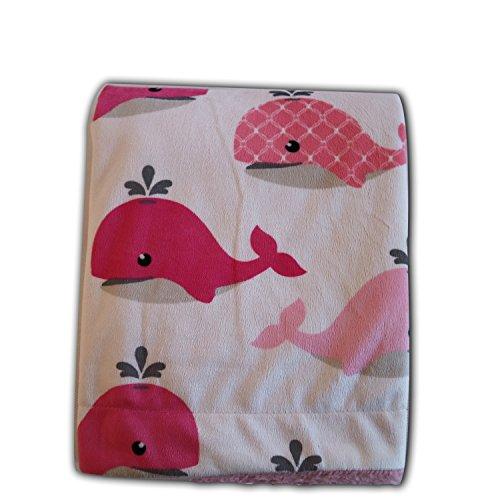 Urbest-c Girl Boy Sleepsack Baby Blanket,Flannel, Receiving Blanket, Minky Printed, Lightweight Sleeveless Sleeping. (Whale) by Urbest-c