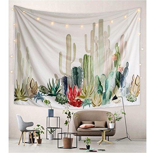 PYHQ Tropical Cactus Tapestry Wall Hanging Urban Hippie Bohemia Boho Art Polyester Fabric succulent plants Dorm Room Theme