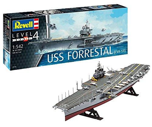 ドイツレベル 1/542 アメリカ海軍 空母 USSフォレスタル プラモデル 05156