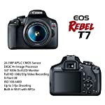 Canon EOS Rebel T7 DSLR Camera Bundle with Canon EF-S 18-55mm f/3.5-5.6 is II Lens + 2pc SanDisk 32GB Memory Cards…