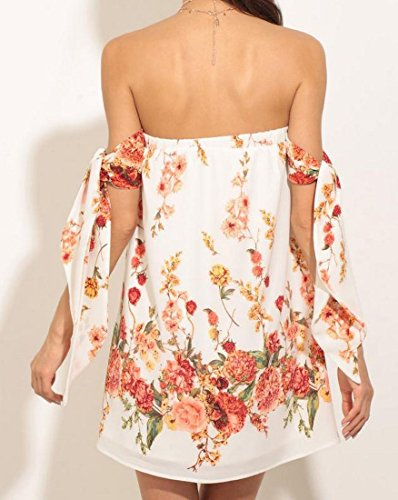 Top Printed Tube Dress Coolred Women White Elegant Dresses Backless Cocktail qw7PE