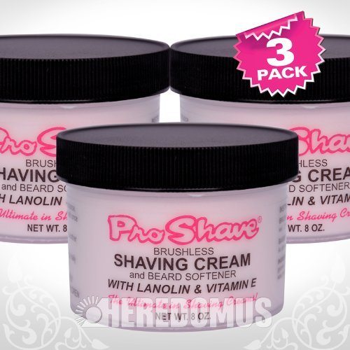 Pro Shave Shaving Cream 8 oz. (3-Pack) with Free Nail File by Shave Pro