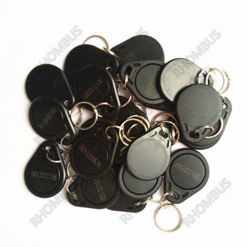 100 pcs EM 4100/4102 Keychains 125Khz RFID Proximity ID Card Token Tags Key Fobs