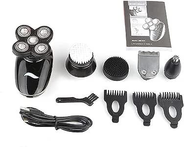 Hombres Afeitadora eléctrica multifuncional 5 en 1, maquinilla de afeitar eléctrica recargable, cuchillo de barba de ...