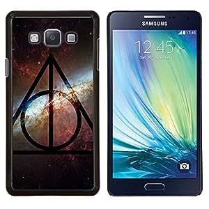 Universo Sky Modelo de estrella del patrón extranjero- Metal de aluminio y de plástico duro Caja del teléfono - Negro - Samsung Galaxy A7 / SM-A700