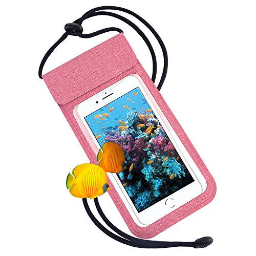 Waterproof Cell Phone Case, RANVOO Dry Bag Pouch with Adjustable Lanyard for iPhone X/8 Plus/7 Plus/6s/6 Plus, Samsung Galaxy S9 Plus/S8 Plus/S8, Note 8/7, LG, Google Pixel, HTC10, Up to 6.2'' - Pink by RANVOO