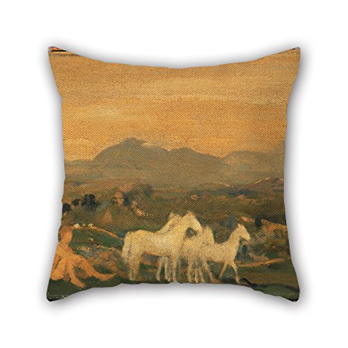 Oil Painting Arthur B. Davies - Horses Of Attica Pillow Cases 18 X 18 Inches / 45 By 45 Cm For Wedding,girls,dining Room,boys,kids Girls,sofa With Twice Sides]()