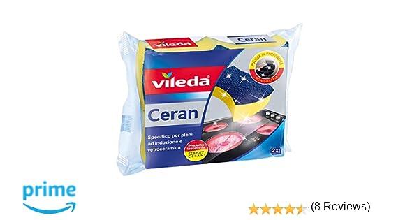 Vileda 153104 vitrocerámica Esponja para cocinas de inducción y vitrocerámica, 2 Unidades, 19 x 14 x 5.4 cm, 2 Unidad