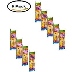 PACK OF 9 - Wild Harvest Crispy Honey Flavor Treat Sticks for Parakeets, 8 oz