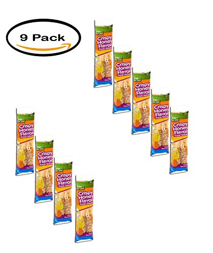 PACK OF 9 - Wild Harvest Crispy Honey Flavor Treat Sticks for Parakeets, 8 oz