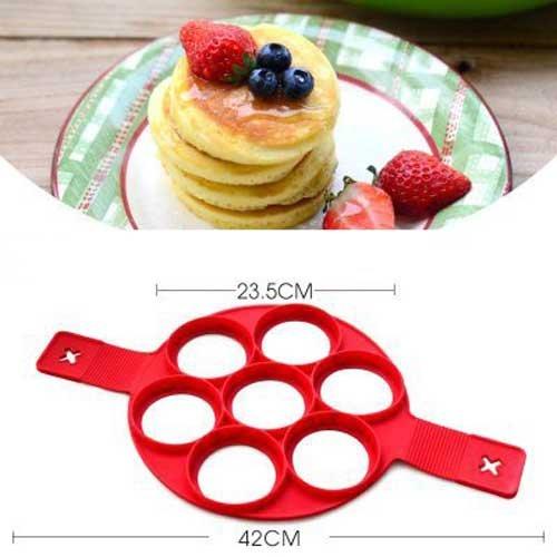 Labu Store ANDES 1Pcs Silicone Non Stick Fantastic Egg Pancake Maker Ring Kitchen Baking Omelet Moulds flip cooker