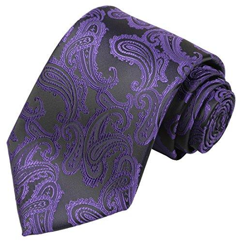(KissTies 2.4'' Skinny Tie Royal Purple Slim Necktie + Gift Box)