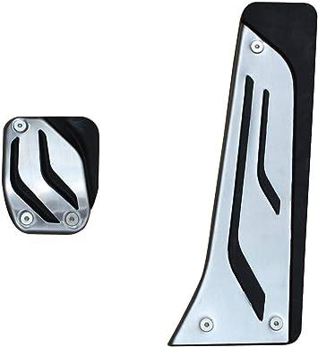 dilei No Drill Anti-Slip at//MT Fuel Gas Brake Pedal Cover for BMW M2 E87 M3 F80 E46 E90 E92 E93 M4 F82 F83 M5 F10 F11 E60 E61 M6 F12 F13 E63 E64 at 2PC