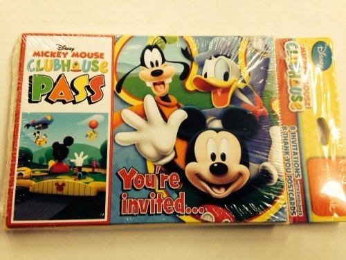 Mickey Mouse 'Playtime' Invitations and Thank You Notes w/Envelopes (8ct ea.) -
