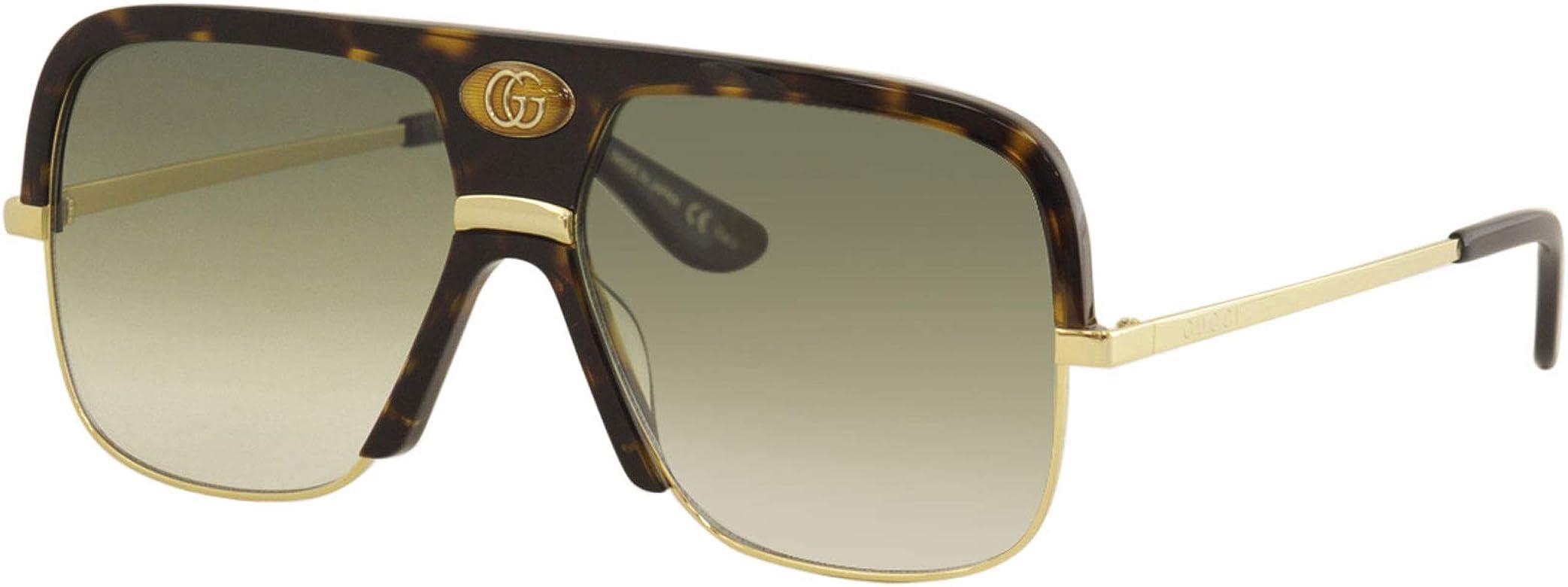 174bcd7fe17f Amazon.com: Sunglasses Gucci GG 0478 S- 002 HAVANA/GREEN GOLD: Clothing