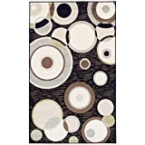 Ringoes 8′ x 10′ Black Area Rug, Contemporary Living Room & Bedroom Area Rug, Anti-Static and Water-Repellent for Residential or Commercial Use, 8-feet By 10-feet