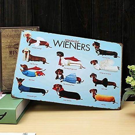 Size : Size: 30 x 20 cm SUNXK Targa in Metallo per Cani Bassotto placca di Metallo Vintage Poster Bar Decorazione della Parete di casa Pub