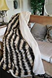 Best Tache Home Fashion Elegant Home Fashions Home Fashion Fauxes - Tache Elegant Safari Striped Dark Brown Blanket Super Review