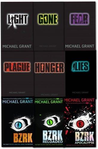 Gone series Michael Grant Collection 8 Books Set (Eve and Adam, BZRK, Plague, Lies, Hunger, Gone, Fear, Light)