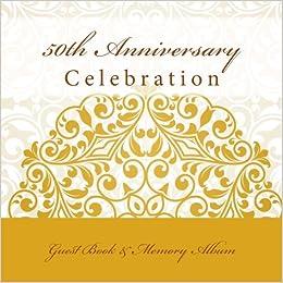 50th Anniversary Celebration Guest Book Memory Album 50th