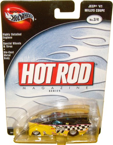 Hot Wheels 100% Hot Rod Magazine Jeep '41 Willys Coupe 3/4 41 Willys Coupe Hot Rod