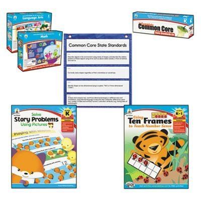 Carson-Dellosa Publishing - Common Core Kit Math/Language Kindergarten ''Product Category: Classroom Teaching & Learning Materials/Reading & Writing Materials''