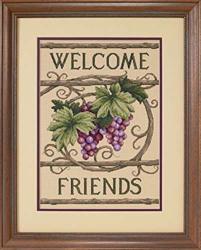 Dimensions Welcome Friends Counted Cross Stitch Kit - 10 x 14 Inches ()