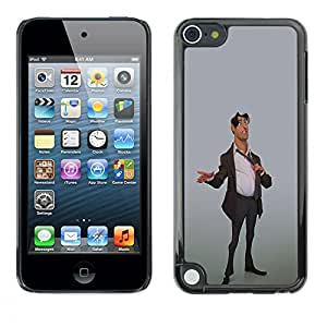 Paccase / SLIM PC / Aliminium Casa Carcasa Funda Case Cover - Stock Broker Man Suit Stylish 3D Art Office - Apple iPod Touch 5