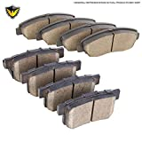 #8: New Duralo Ceramic Front & Rear Brake Pad Set For Acura MDX & Honda Pilot - Duralo 141-1026 New