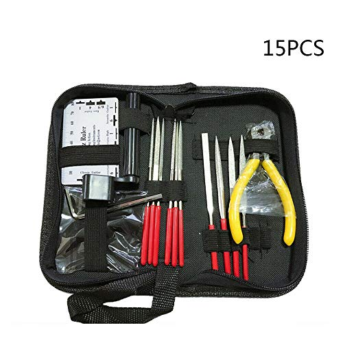 FidgetGear 15Pcs Guitar Care Tool Repair Maintenance Tech Kit Fret Repairing Tools S2B9 from FidgetGear