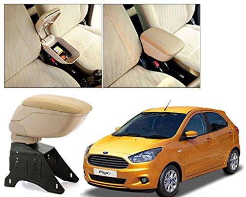 Autopearl Premium Quality Black Chrome Armrest Console Box For   Ford Figo New  2015