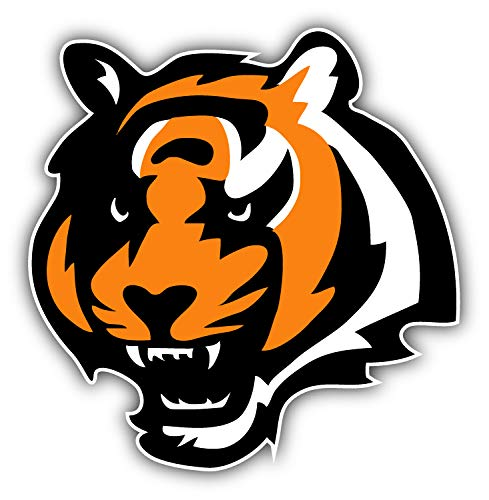 (qualityprint Cincinnati Bengals NFL Football Head Logo Sport Decor Bumper Vinyl Sticker 12'' X 12'' )