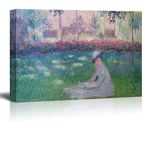 Woman in a Garden by Claude Monet Impressionist Art