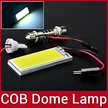 Aluminio OxGrowTM 8W T10 mentación adornen Interior del coche de la matrícula denigración lámparas LED luz T10/50 mm X 20 mm adaptador retráctil adornen: ...