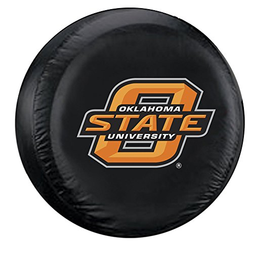 Oklahoma State Cowboys NCAA Spare Tire Cover (Black) by Oklahoma