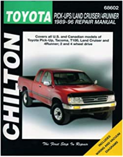 Chilton Toyota Trucks/Land Cruiser/4Runner 1989-1996 Repair Manual (68602)