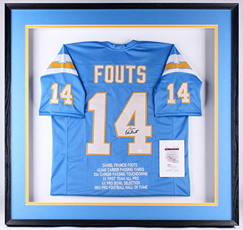 Dan Fouts Autographed Signed Memorabilia Chargers 41.25X41.25X3 Custom Framed Shadow Box Jersey Display - Certified Authentic ()