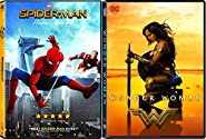 Marvel vs DC Movies Wonder Woman & Spider-Man: Homecoming 2-DVD Bundle Double Feature
