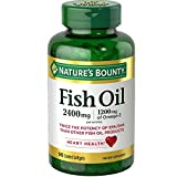 Nature's Bounty Odorless Fish Oil, Double Strength, Softgels 90 ea (Pack of 6)
