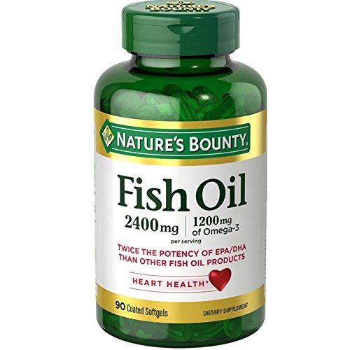 Nature's Bounty Odorless Fish Oil, Double Strength, Softgels 90 ea (Pack of 6) by NAT/BOUNTY