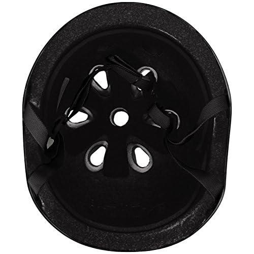 Krown Noir Coque avec sangle Noir Skateboard casque