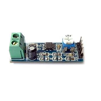 LM386 Audio Amplificador Módulo 20 x ganancia amplificación de sonido con amplio rango de voltaje 5