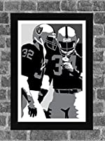 Los Angeles Raiders Bo Jackson Marcus Allen Portrait Sports Print Art 11x17