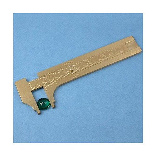 - EX ELECTRONIX EXPRESS Brass Gauge Bead Ruler - Measure & Convert Inches/Metric