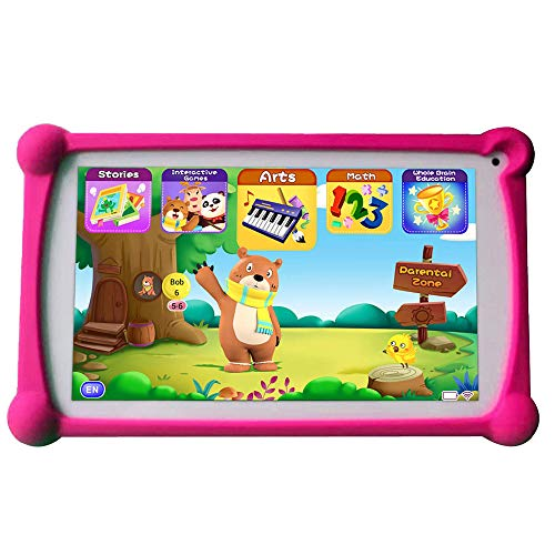Kids Tablets, B.B.PAW 7 inch 1G+8G WiFi Android Tablet with Additional Preloaded Learning&Training Apps and Protective…